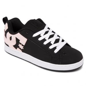 DC Womens Court Graffik - Black / Super Pink BSK ― Canada's Online Skate Shop
