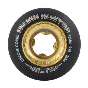Ricta Nyjah Huston Chrome Core Black Gold Slim 99a / 53mm ― Canada's Online Skate Shop