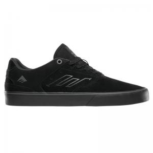 Emerica Reynolds Low Vulc - Black / Black / Grey ― Canada's Online Skate Shop