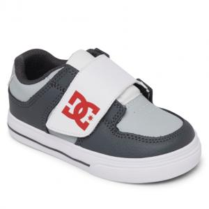 DC Toddlers Pure V II - Grey / Red / White XSRW ― Canada's Online Skate Shop