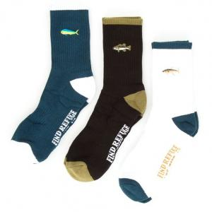 Salty Crew Happy Fish Socks 3-Pack ― Canada's Online Skate Shop