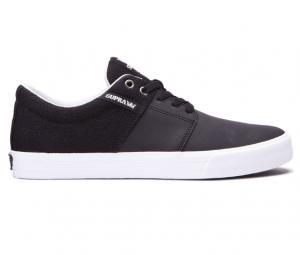 Supra Stacks Vulc II - Black / Cool Grey - White ― Canada's Online Skate Shop