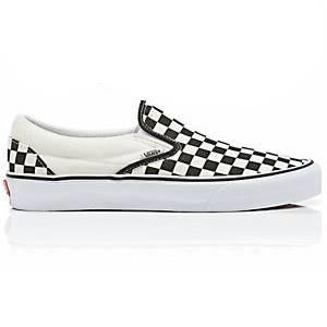 c2e94486acf0b8 Vans Classic Slip-On - Black   White Checkerboard   White ― Canada s Online  Skate Shop