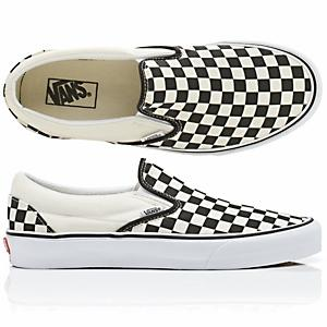 3b243977a822c2 Vans Classic Slip-On - Black   White Checkerboard   White ― Canada s ...