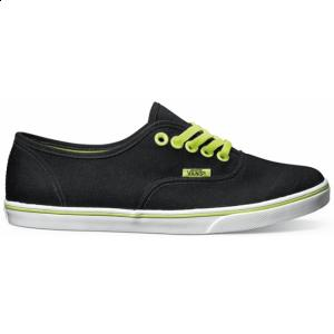 Vans Womens Authentic Lo Pro | (Neon) Black / Green ― Canada's Online Skate Shop