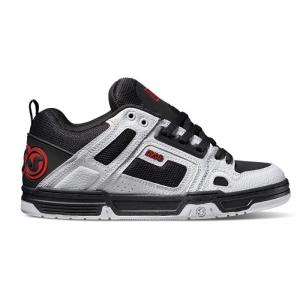 DVS Comanche - Deegan Black / White / Red Leather ― Canada's Online Skate Shop
