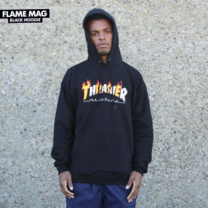 009574fbd2f5 Thrasher Flame Mag Pullover Hoodie - Black ― Canada s Online Skate Shop