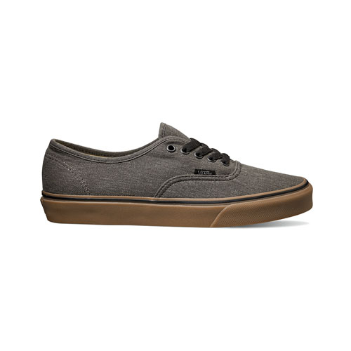 901a4709b6ae Vans Authentic - (Washed Canvas) Black   Gum ― Canada s Online Skate Shop