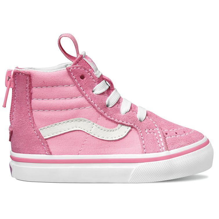 Vans Toddler SK8-Hi Zip - Prism Pink   True White ― Canada s Online Skate  Shop 73915507d880
