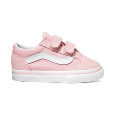 950371868d7c8e Vans Toddler Old Skool V - (Suede   Canvas) Chalk Pink   True White ―  Canada s Online Skate Shop