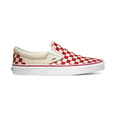 12f02a88c93 Vans Classic Slip-On - (Primary Check) Racing Red   White ― Canada s ...