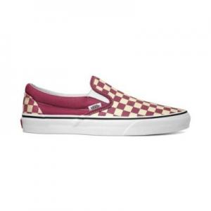 Vans Classic Slip-On - (Checkerboard) Dry Rose / White ― Canada's Online Skate Shop