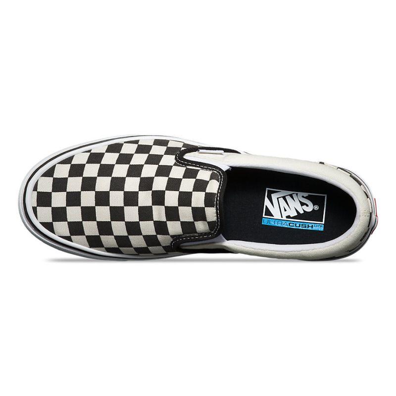 7b034f2928fa Vans Slip-On Lite - (Checkerboard) Black   Classic White ― Canada s ...