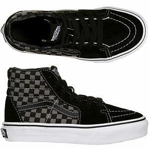 b5657656b4 Vans Kids Sk8-Hi - (Checkerboard) Black   Pewter ― Canada s Online ...